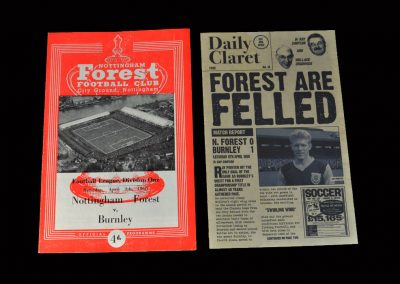 Burnley v Notts Forrest 09.04.1960