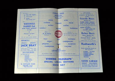 Burnley v Leicester 15.04.1960
