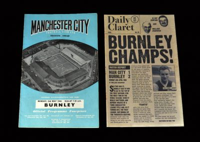 Burnley v Man City 02.05.1960