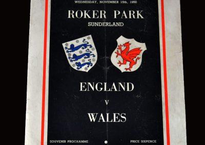 England v Wales 15.11.1950