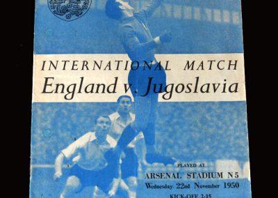 England v Yugoslavia 22.11.1950