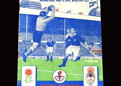 England v Argentina 09.05.1951