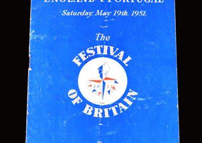 England v Portugal 19.05.1951