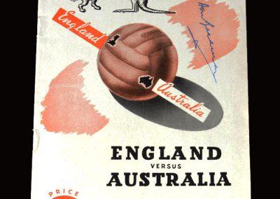 England v Australia 23.06.1951 (Bradman Signature England win 13-1)