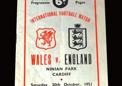 Wales v England 20.10.1951