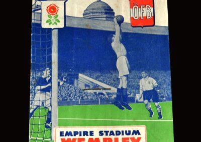 England v Austria 28.11.1951