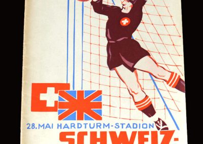 Switzerland v England 28.05.1952