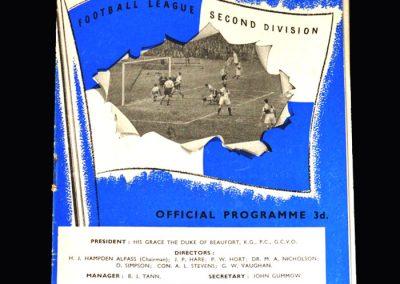 Bristol Rovers v Middlesbrough 02.11.1957 (0-5)