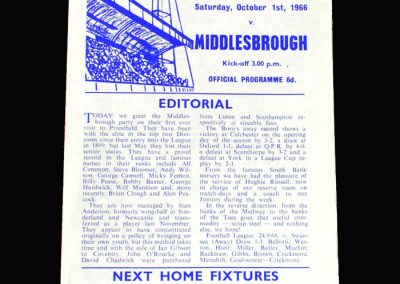 Middlesbrough v Gillingham 01.10.1966