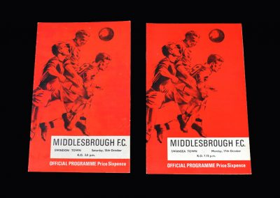 Middlesbrough v Swindon 15.10.1966 | Middlesbrough v Swansea 17.10.1966