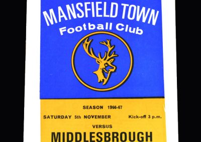 Middlesbrough v Mansfield 05.11.1966