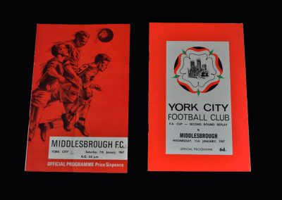 Middlesbrough v York 07.01.1967 (FA Cup Round 2) | Middlesbrough v York 11.010.1967 (FA Cup Round 2 Replay)