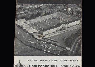 Middlesbrough v York 16.01.1967 (FA Cup Round 2 2nd Replay)