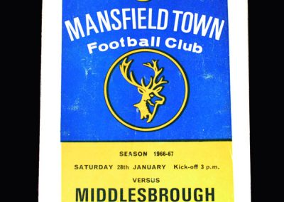 Middlesbrough v Mansfield 28.01.1967 (FA Cup Round 3)