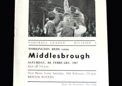 Middlesbrough v Workington 04.02.1967