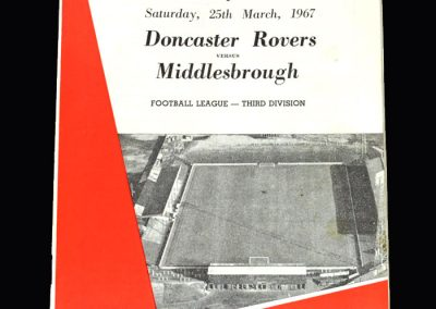 Middlesbrough v Doncaster 25.03.1967