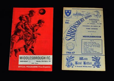 Middlesbrough v Shrewsbury 27.03.1967 | Middlesbrough v Shrewsbury 29.03.1967