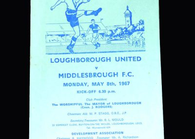 Middlesbrough v Loughborough 08.05.1967