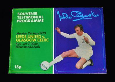 Jack Charlton Testimonial Leeds v Celtic 07.05.1973