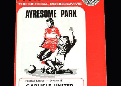 Middlesbrough v Carlisle 11.09.1973
