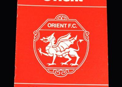 Middlesbrough v Layton Orient 17.09.1973