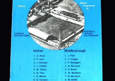 Middlesbrough v Carlisle 23.10.1973