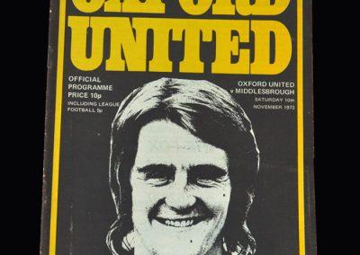 Middlesbrough v Oxford 10.11.1973
