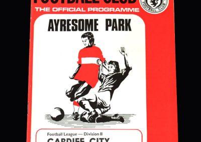 Middlesbrough v Cardiff 17.11.1973