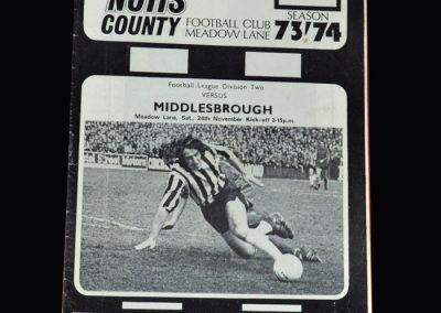 Middlesbrough v Notts County 24.11.1973
