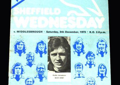 Middlesbrough v Sheff Wed 08.12.1973