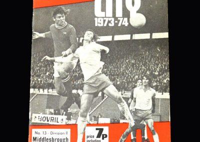 Middlesbrough v Bristol City 22.12.1973