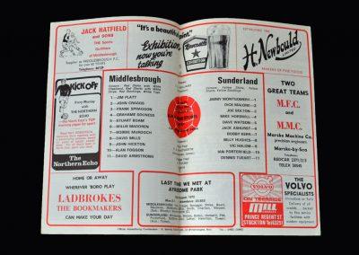 Middlesbrough v Sunderland 26.12.1973