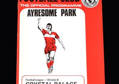 Middlesbrough v Crystal Palace 29.12.1973