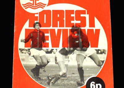 Middlesbrough v Notts Forrest 02.02.1974