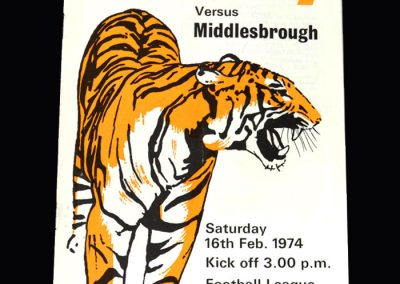 Middlesbrough v Hull 16.02.1974