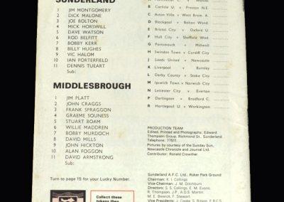 Middlesbrough v Sunderland 02.03.1974