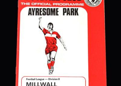 Middlesbrough v Millwall 09.03.1974