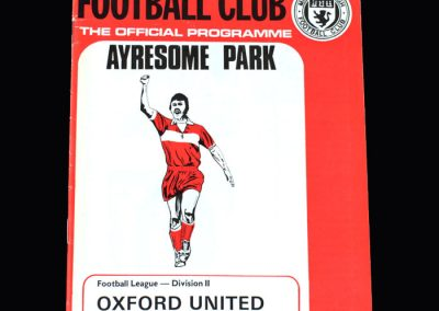 Middlesbrough v Oxford 23.03.1974