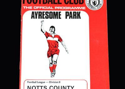 Middlesbrough v Notts County 06.04.1974