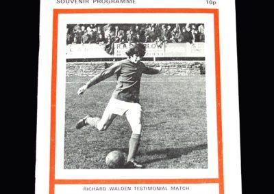Middlesbrough v Aldershot 01.05.1974 (Walden Testimonial)