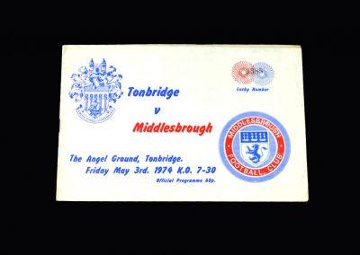 Middlesbrough v Tonbridge 03.05.1974