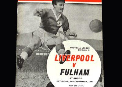 Liverpool v Fulham 16.11.1963