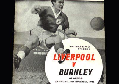 Liverpool v Burnley 30.11.1963