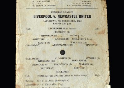 Liverpool Res v Newcastle Res 07.12.1963