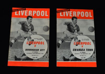 Liverpool v Birmingham 22.02.1964 | Liverpool v Swansea 29.02.1964 (FA Cup 6th Round)