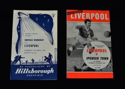 Liverpool v Sheff Wed 04.03.1964 | Liverpool v Ipswich 07.03.1964
