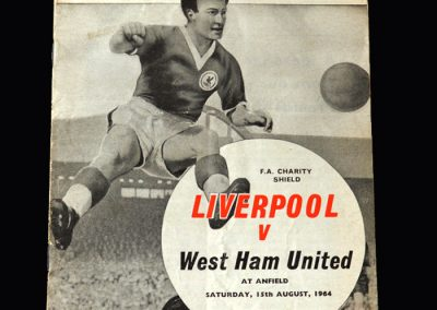 Liverpool v West Ham 15.08.1964 (Charity Shield)