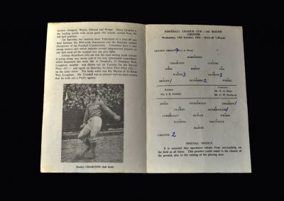 Orient v Chester City 17.10.1962 (League Cup 3rd Round)