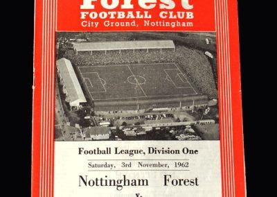 Orient v Notts Forest 03.11.1962