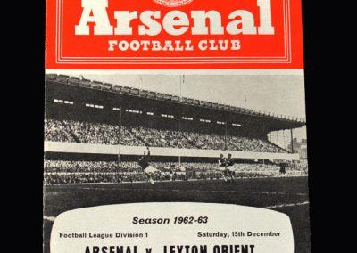 Orient v Arsenal 15.12.1962